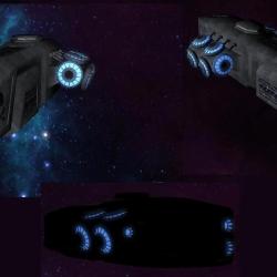 Glowing Starship